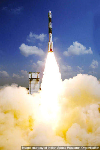 The PSLV was designed to be 450m high and of 2.8m diameter.