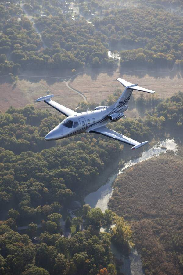 The Eclipse 550 looks similar to the Eclipse 500 but features a number of upgrades to its interior. Image courtesy of Eclipse Aerospace.