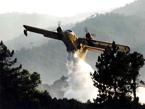 The Canadair 415 is known in the firefighting service as the Superscooper.