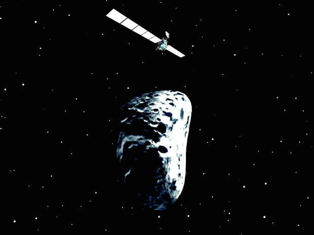 Once the spacecraft arrives at its target, the lander will detach itself and land on the comet.