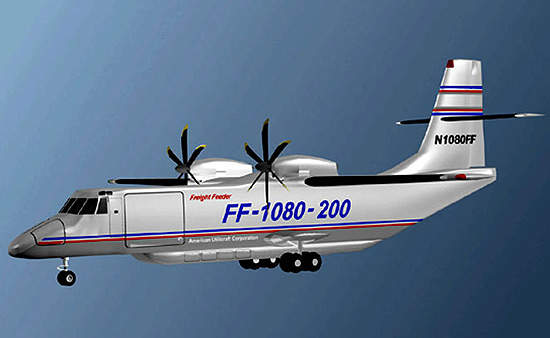 The FF-5000 aircraft has the capacity to carry standard industry air containers on short to medium-range / medium-density routes.