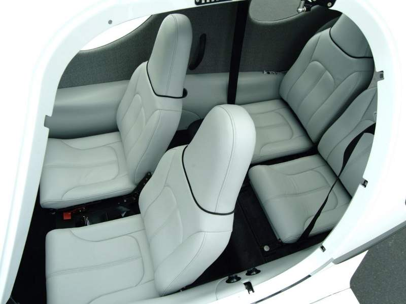 The rear seats of the aircraft feature spacious leg and elbow room. Image: courtesy of Lancair.