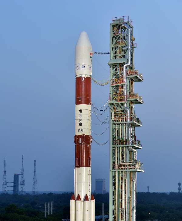 The satellite was launched using a PSLVC26 rocket. Image courtesy of Indian Space Research Organisation (ISRO).