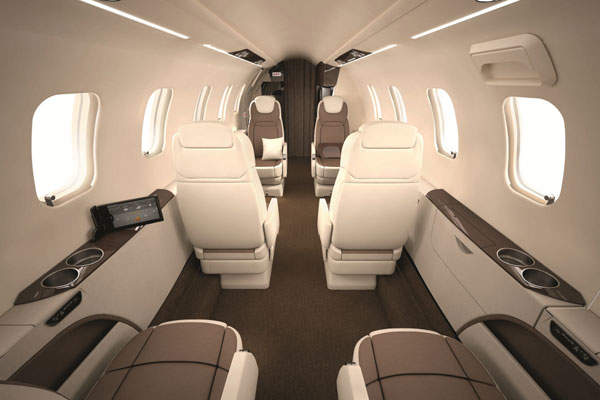 The cabin has a total volume of 410 cubic feet.Image courtesy of Bombardier.
