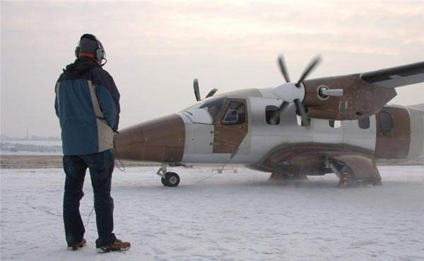 The pneumatic boots will enable the EV-55 to operate under complicated icing conditions. Image courtesy of Evektor.