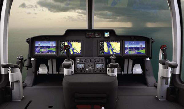 The helicopter is equipped with a new G5000H avionics suite. Image courtesy Bell Helicopter Textron Inc.