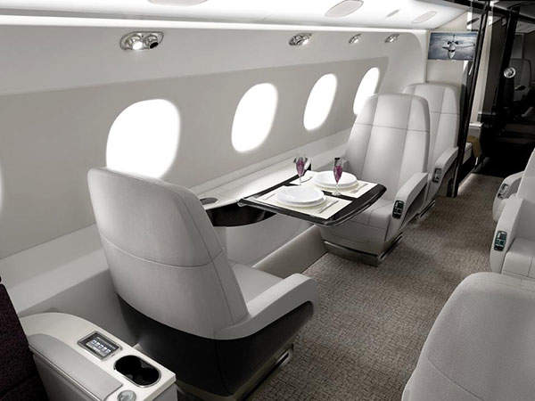 The aircraft has a 1.82m stand-up cabin with a flat floor. Image courtesy of Embraer Executive Jets.