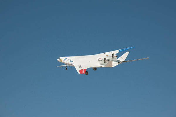 The final test flights of X-48C aircraft were completed in April 2013. Image courtesy of Nasa / Carla Thomas.