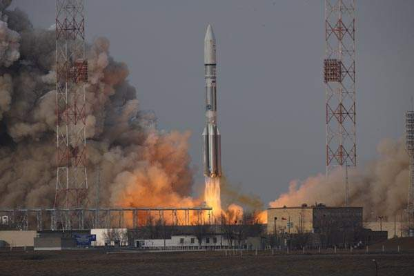 The IS-22 was launched into SSTO atop the ILS Proton Briz-M rocket from the Khrunichev Research and Production Center at the Baikonur Cosmodrome site 200/39, in Kazakhstan. Image courtesy of International Launch Services.