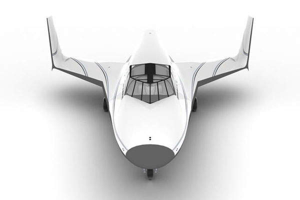 The Lynx features twin outboard vertical tails. Image: courtesy of XCOR Aerospace.