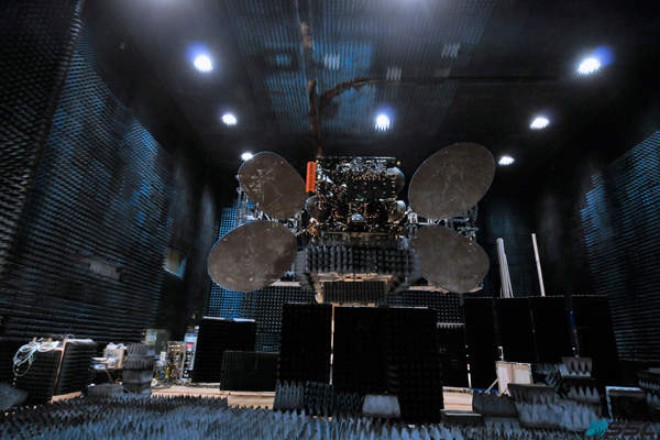 AsiaSat 8 completed its Compact Antenna Test Range (CATR) tests in February 2014. Image courtesy of Asia Satellite Telecommunications Company.