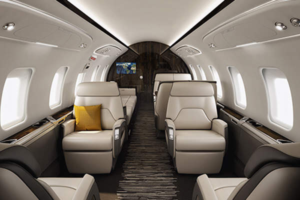 The Challenger 650 features widest in-class cabin redesigned to offer greater comfort and productivity. Image courtesy of Bombardier.