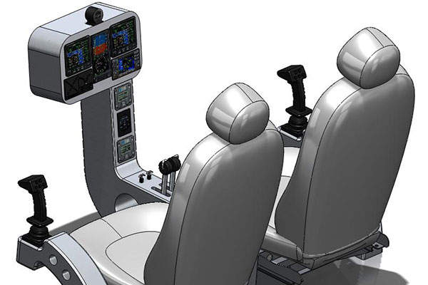 40E Sky Dragon's flight deck. Image courtesy of Worldwide Aeros Corp. (Aeros).