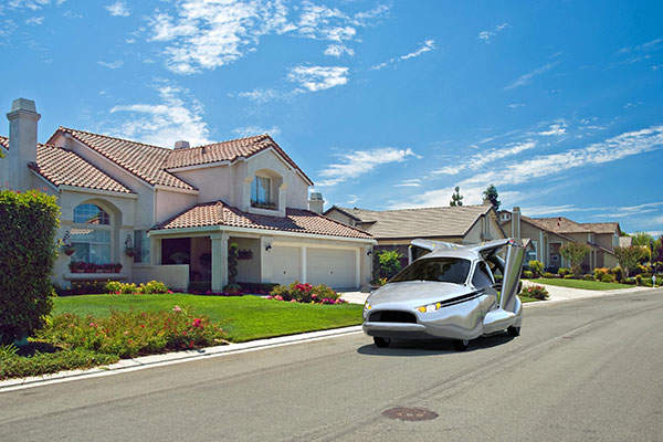 The flying car can be driven on roads and highways. Image: courtesy of Terrafugia.