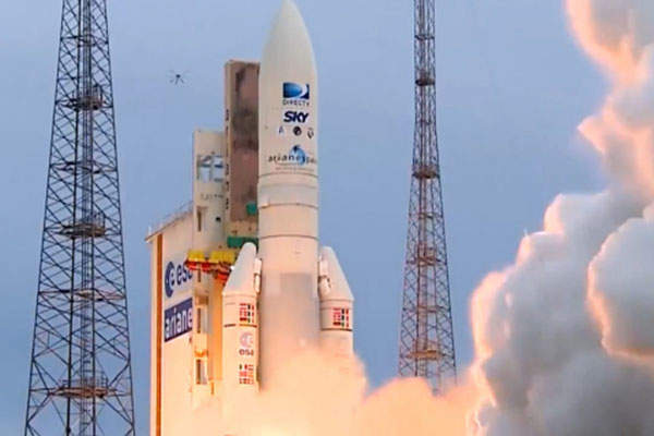 The Sky Mexico-1 satellite was launched on 27 May 2015 aboard an Ariane 5 rocket. Image: courtesy of Arianespace.
