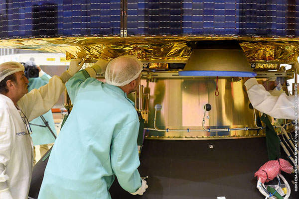 The satellite was developed by EUMETSAT in close co-operation with European Space Agency (ESA). Image: courtesy of EUMETSAT.