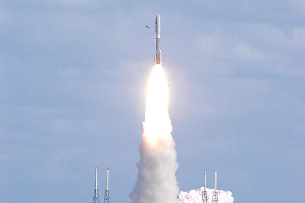 The spacecraft was launched in January 2006 and reached Pluto's surface after approximately nine years in July 2015. Image: courtesy of NASA/KSC.