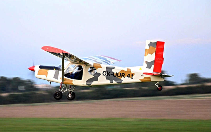 The aircraft can take-off from and land on short runways. Image: courtesy of Kubíček Aircraft.