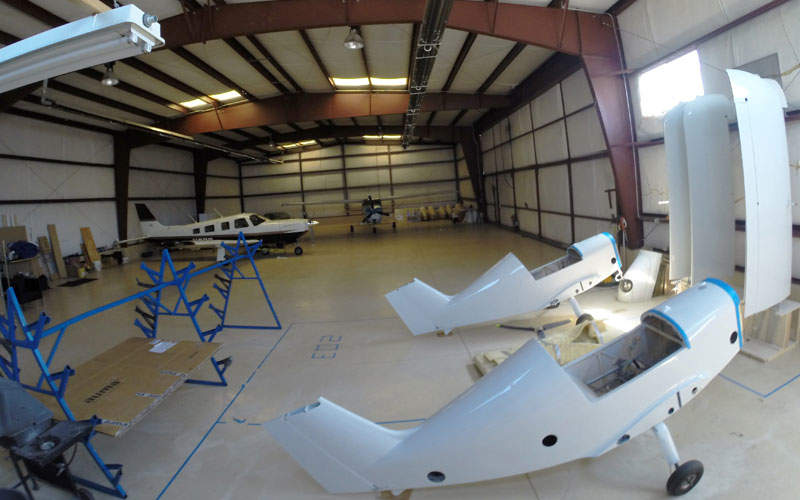 The SD-1 aircraft comes fitted with removable wings. Credit: SkyCraft Airplanes.
