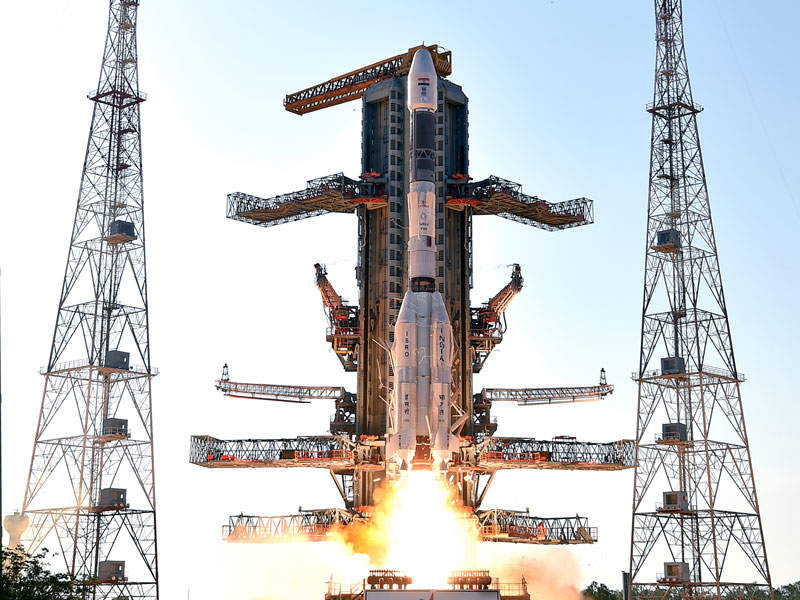 The GSAT-9 satellite was launched using Geosynchronous Satellite Launch Vehicle. Image courtesy of ISRO.