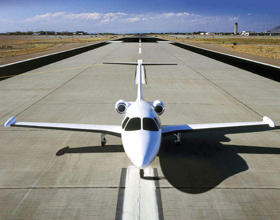 The Eclipse 500 can operate from paved, grass or dirt runways.