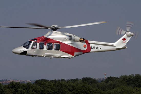 The AW139 is available in both civil and military configurations and is capable of carrying up to 15 passengers or 2,500kg (5,500lbs) useful load.