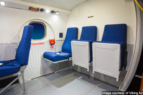 DHC-6-400 twin otter fitted with an emergency exit door.