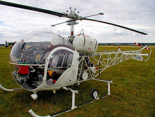 The Bell 47 at Kemble Airfield, Gloucestershire, UK.
