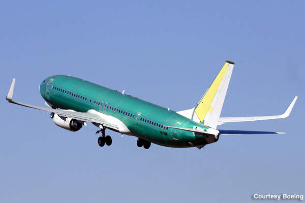 BBJ3 on its first flight. The aircraft was unveiled in November 2005 and officially launched in October 2006.