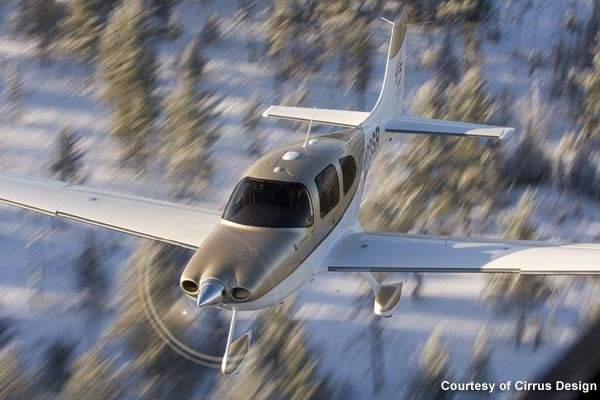 SR22 is powered by a nose-mounted IO-550-N piston engine.
