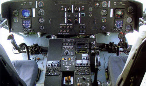 The cockpit instrument panel of the Mi-38 prototype.