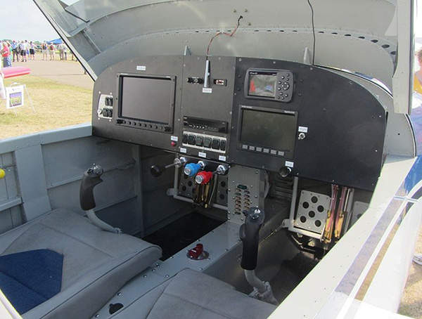 The prototype RV-14 aircraft is fitted with Skyview avionics system. Image courtesy of FlugKerl2.