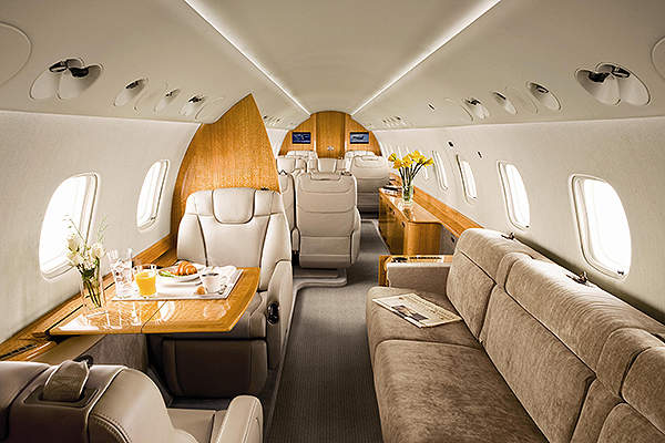 The executive jet's cabin is equipped with advanced entertainment facilities. Image courtesy of Embraer Executive Jets.