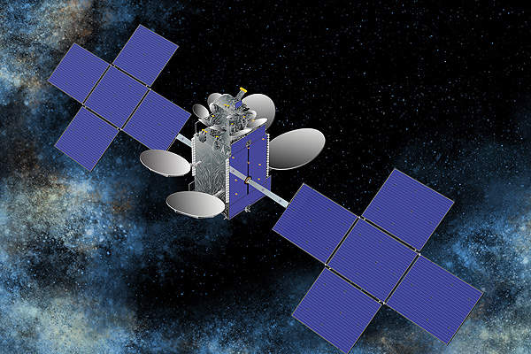 An artist's impression of Eutelsat 25B satellite. Image courtesy of Space Systems / Loral.