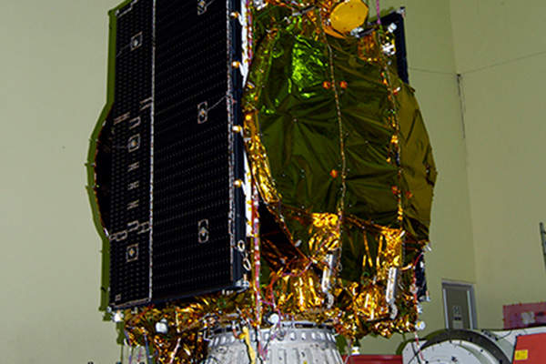 The satellite will replace GSAT 3 at 74° east longitude. Image courtesy of ISRO.