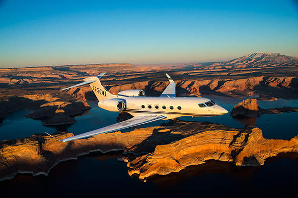The G500 jet offers incredible speed and a significant range. Image courtesy of Gulfstream Aerospace Corporation.