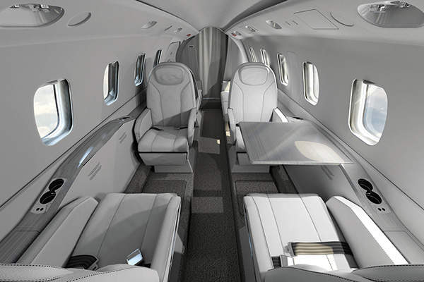 Avanti EVO can accommodate seven passengers. Image courtesy of Piaggio Aero Industries S.p.A.