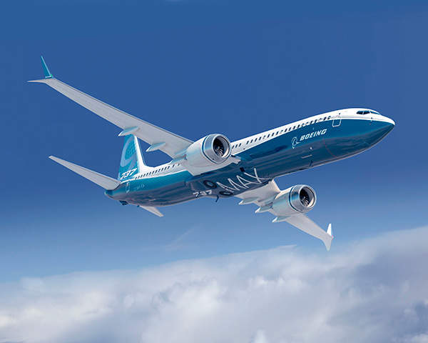 Boeing 737 MAX is powered by two CFM International LEAP-1B engines. Image courtesy of Boeing.