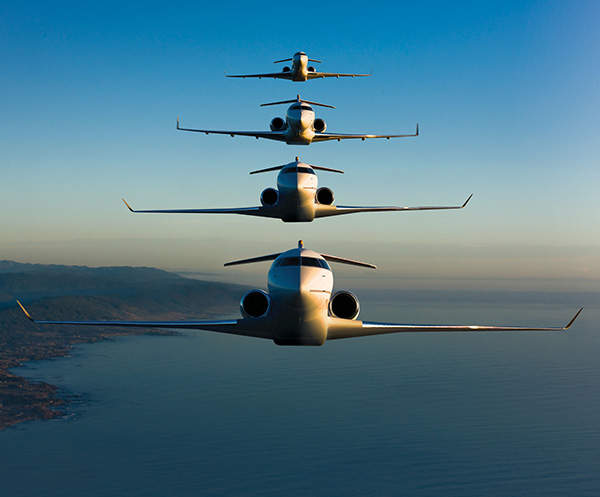 The Global family of business jets is manufactured by Bombardier Aerospace. Image courtesy of Bombardier.