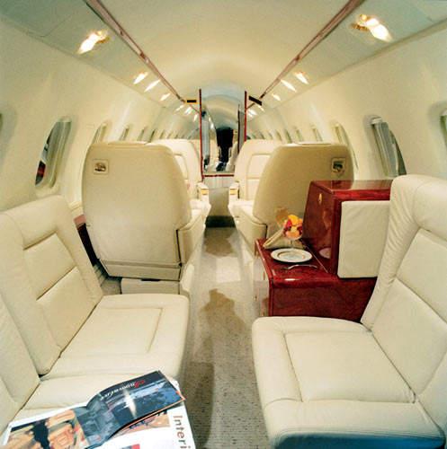 The spacious interior of the Avanti II cabin.