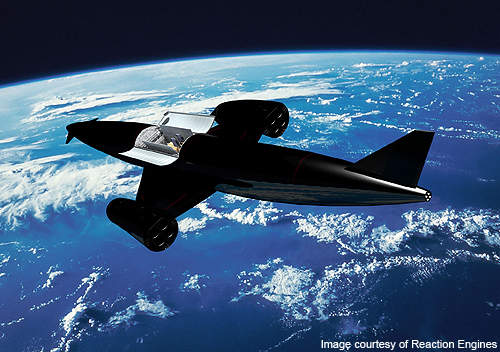 Artistic rendering of Skylon in space.