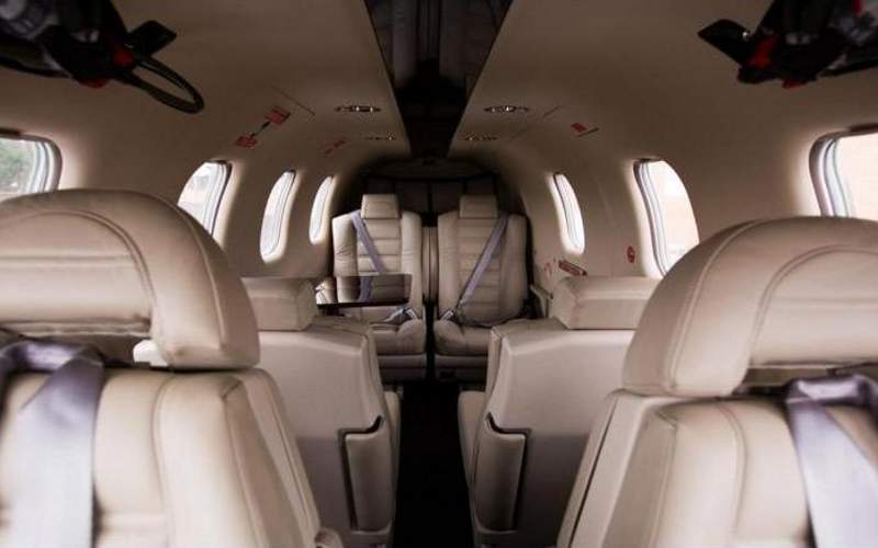 The business jet accommodates up to six passengers. Image courtesy of Daher.