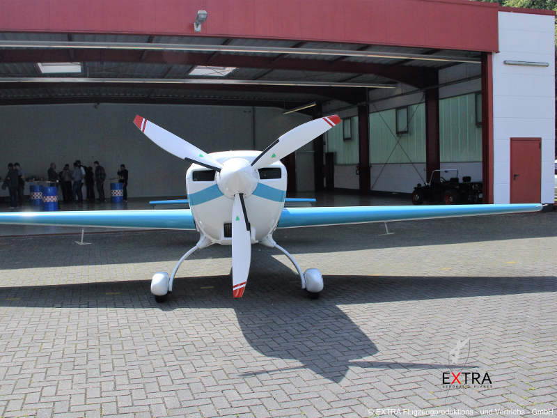 The Extra 330LE is powered by hybrid-electric propulsion systems developed by Siemens. Image courtesy of Extra  Aircraft.