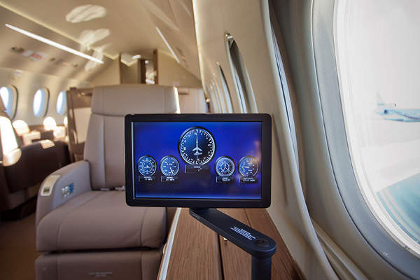 The total cabin volume of the aircraft is 29 cubic metres.