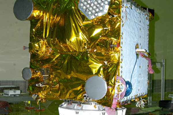 IRNSS-1A was launched using an I-1K satellite bus. Image courtesy of ISRO.