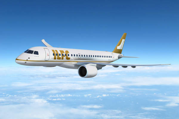 International Lease Finance Corporation (ILFC) ordered 100 E2 aircraft in 2013. Image courtesy of Embraer.