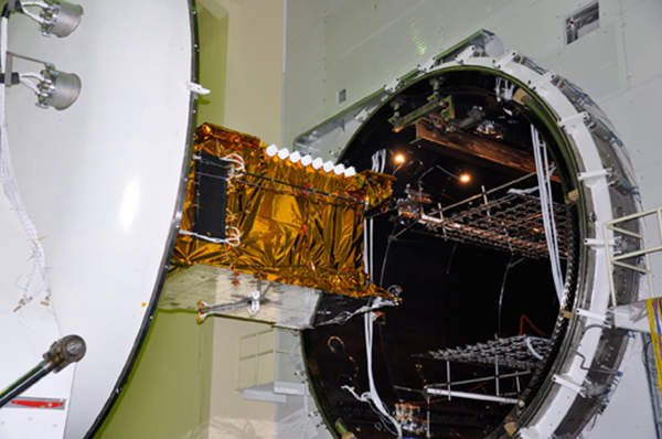 The satellite has a mass lift of weight of 3,435kg. Image courtesy of ISRO.