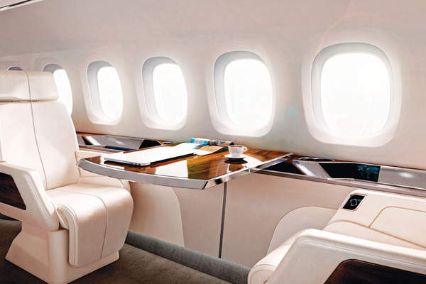 The 30ft cabin of Aerion AS2 will feature a two-lounge layout. Image courtesy of Aerion Corporation.