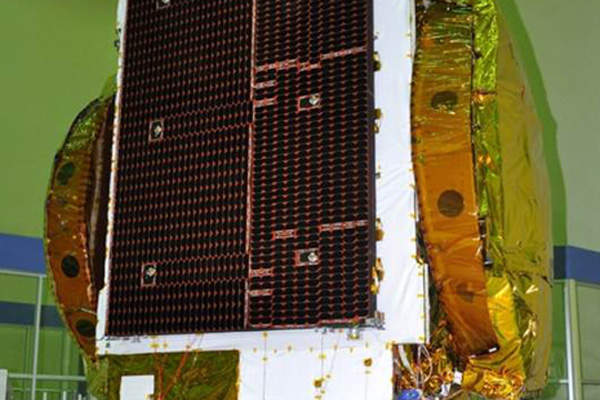 The GSAT-16 will offer services from 55° east longitude orbital position. Credit: ISRO.