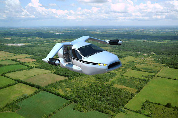 The aircraft is expected to achieve a flight range of more than  800km. Image: courtesy of Terrafugia.